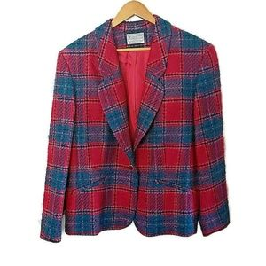Vintage Pendleton Plaid Womens Blazer Sz 16